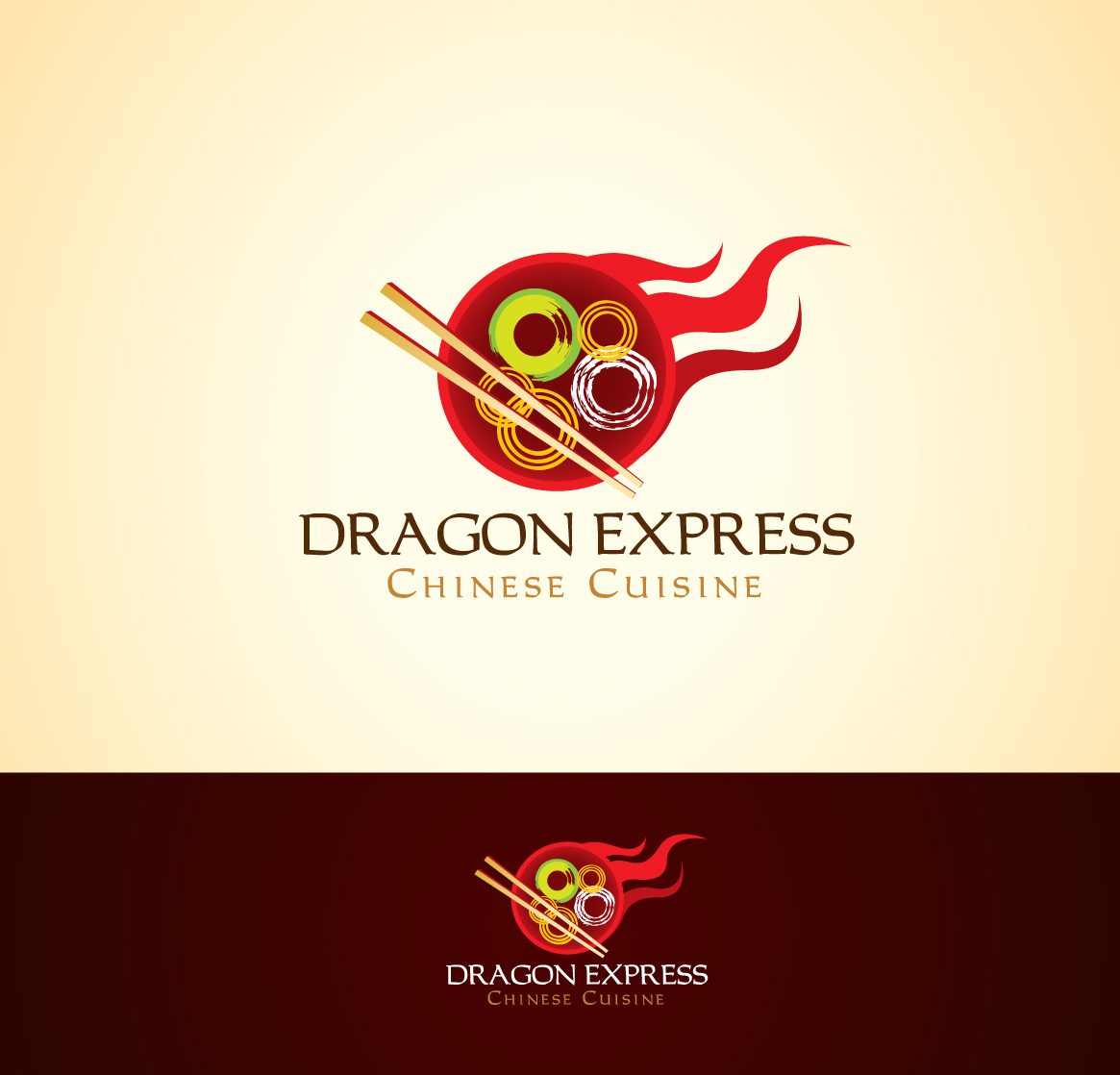 check out this design for dragon express by mycroburst com Chinese Logo Design chinese food restaurant logos