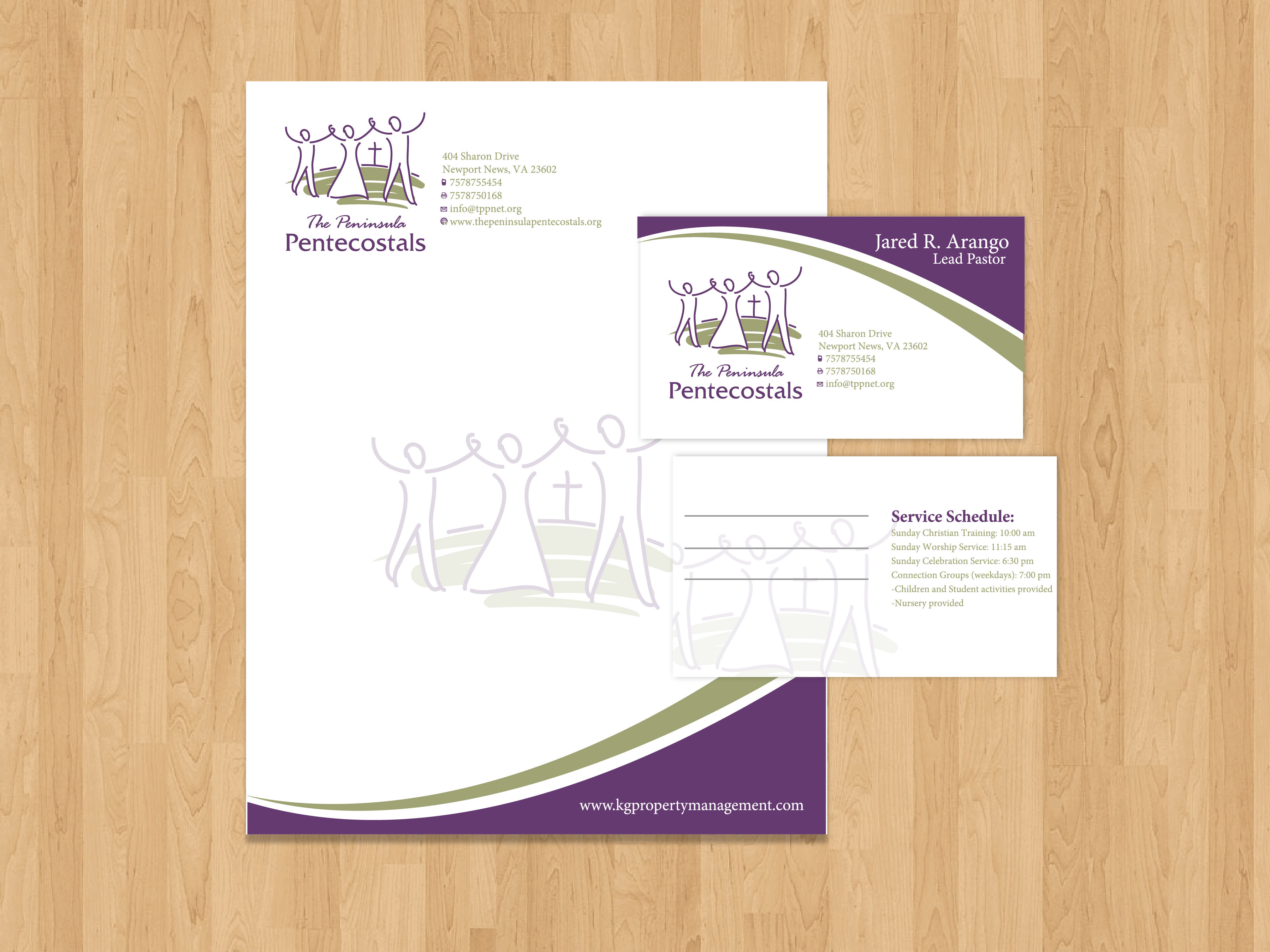 Check Out This Design For Church Letterhead, Envelopes And Business Card By  MycroBurst.com