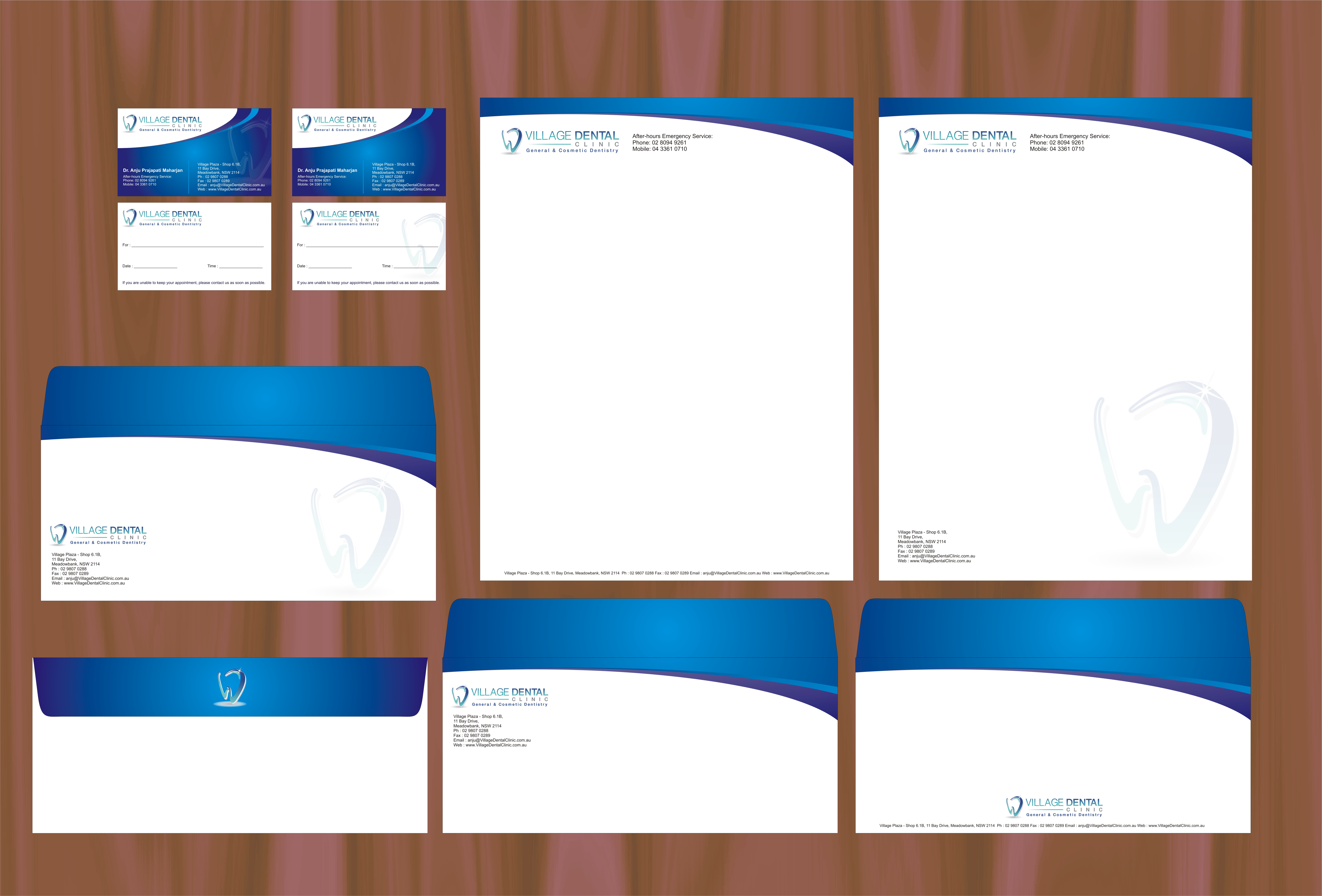 check out this design for business cards letterhead and envelopes