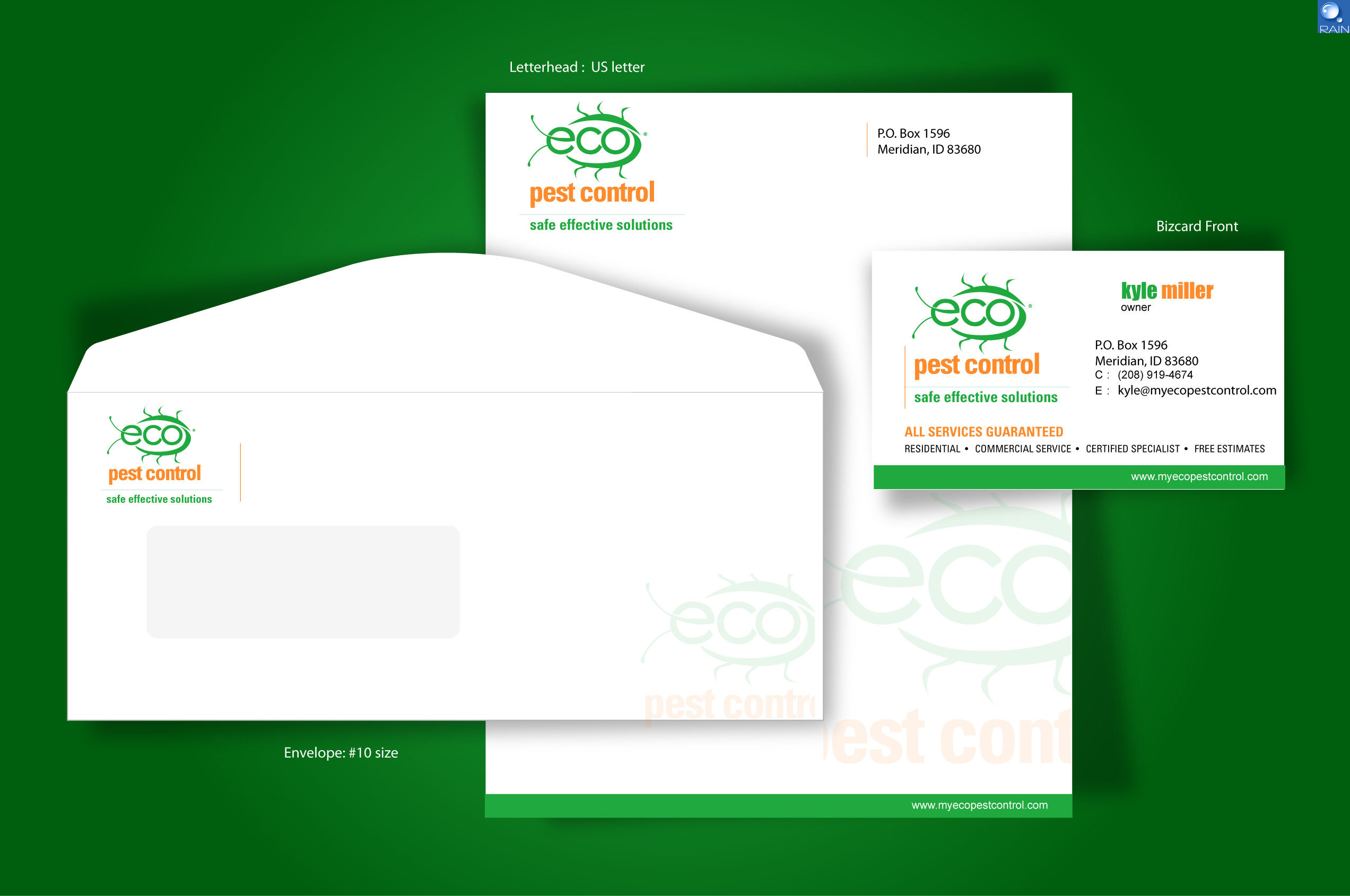 check out this design for stationary business card project for eco