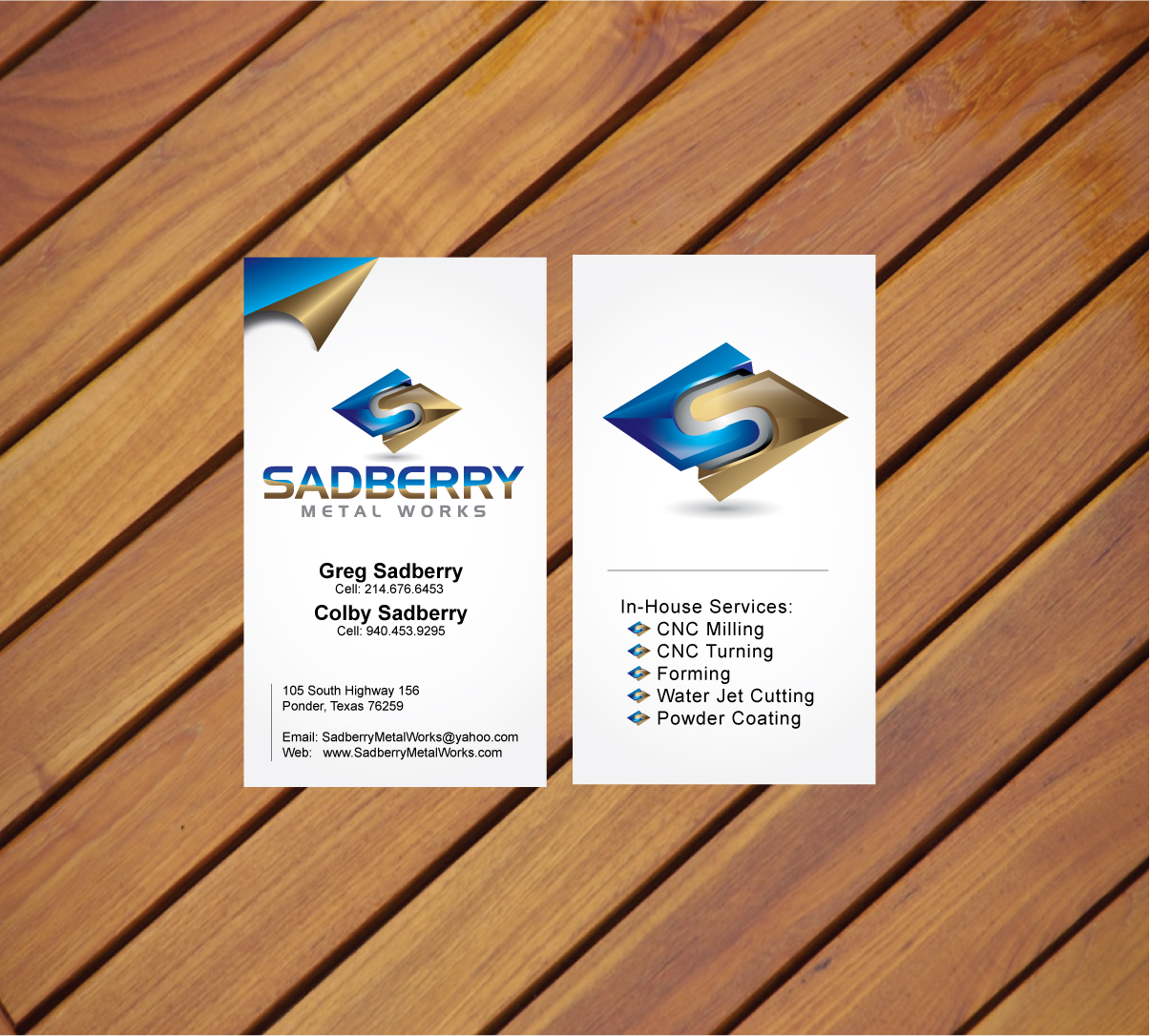 Check out this design for CNC Machine Shop Business Cards by ...
