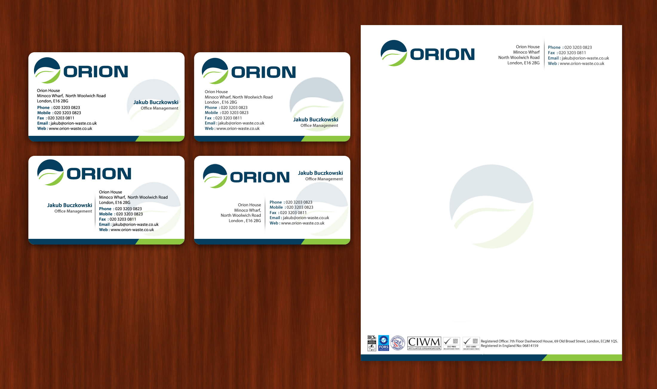 Check out this design for Letterhead, Business Card ...